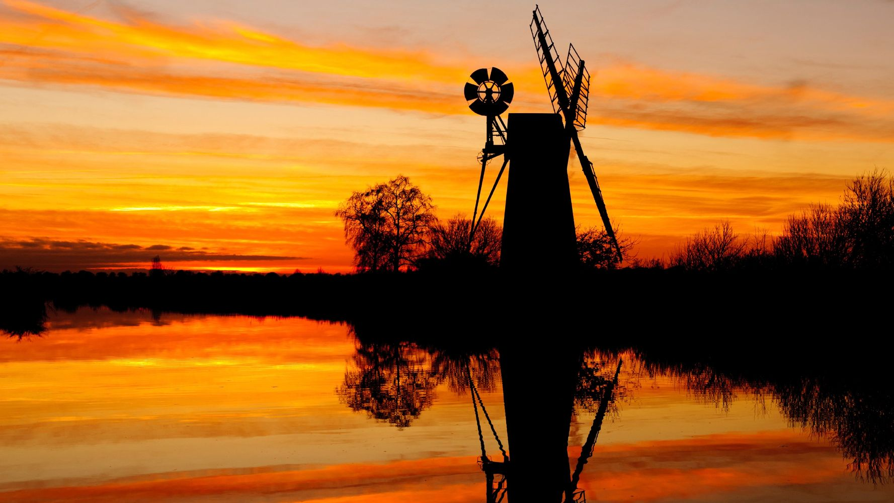 Another Norfolk Broads Mill At Dusk